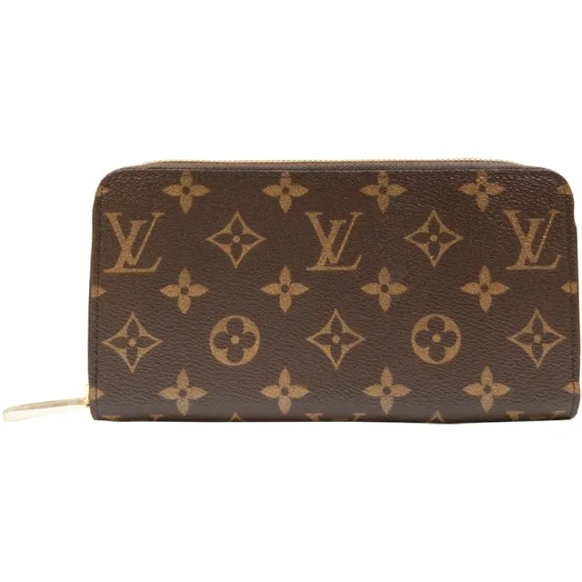 【Louis Vuitton 路易威登】M41894 經典Monogram花紋拉鍊長夾(咖啡X粉色)