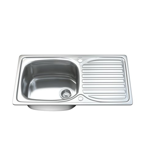 single bowl stainless kitchen sink small storage cabinet 1004 1 0 steel drainer waste