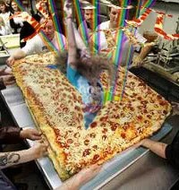 im bursting out of this pizza, hell yeah!