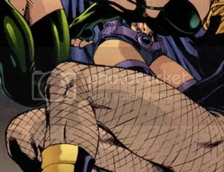 black canary huntress thorne legs fighting birds of prey chickfight cropped