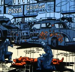 it's a sad day in gotham when pizza is the backdrop to homicide