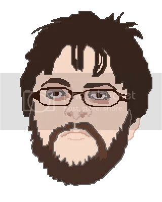 pixel portrait of dean