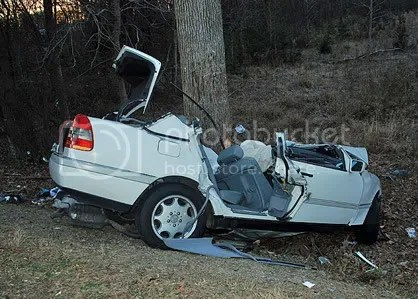 Crash caused by a cell phone
