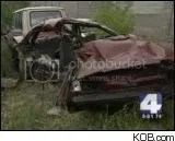 The teens car after the fatal crash