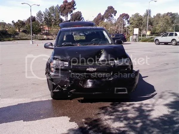 Crash caused by a permited driver in a 500hp SUV. She confused the gas with the brake and panicked. Luckily, no one was hurt.