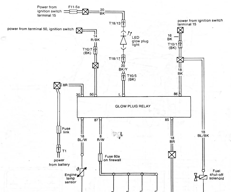 Vw Glow Plug Relay Wiring Diagram : 33 Wiring Diagram