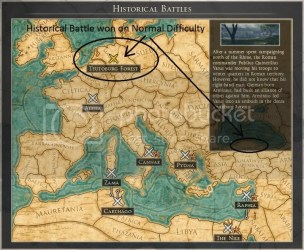 Historical Battle: Teutoburg Forest won but no bronze star on the map Total War Forums