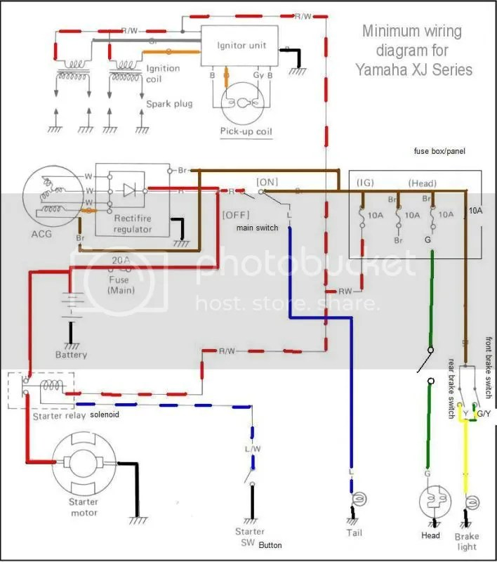 1981 Yamaha Xs400 Wiring Diagram Let S See Some Chopped Wiring Diagrams
