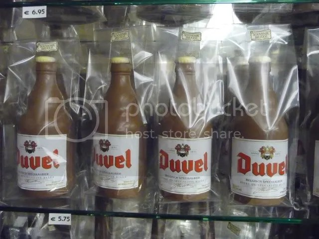 Duvel chocolate bottles