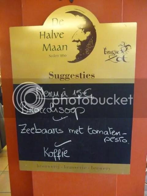 Halve Maan menu