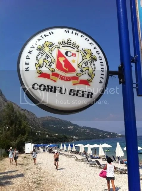 Corfu Beer sign