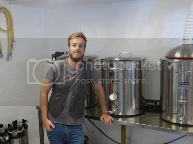 Cameron and his brew kit