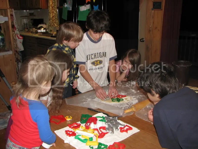 Cutting Christmas Cookies