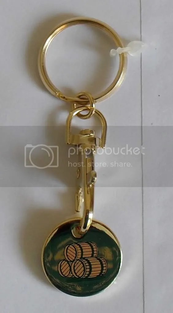 OFFICIAL THREE BARRELS BRANDY KEY RING LOCKER COIN 5  eBay