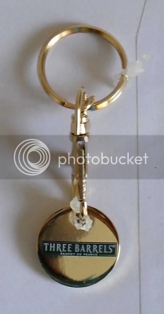 OFFICIAL THREE BARRELS BRANDY KEY RING LOCKER COIN 5 EBay