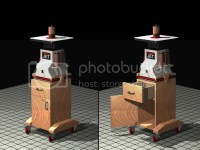 Shop Made Base Cabinet for Spindle Sander