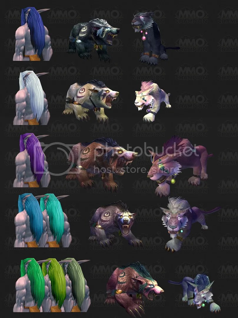 Night Elf Cores new forms