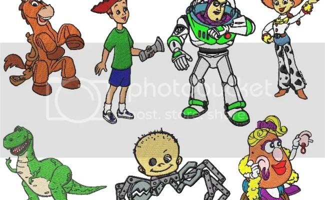 Toy Story Embroidery Designs Set 2 2 Sizes Ebay