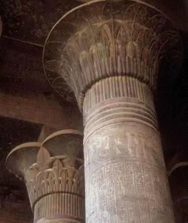 Egyptian columns.