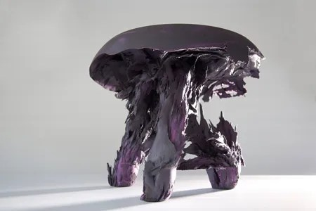 Purple Gravity Stool by Jólan van der Wiel