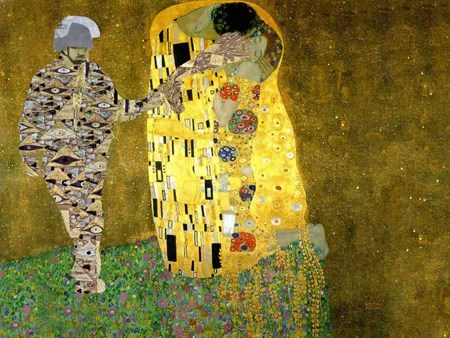Pepper-Spraying Cop (After Klimt)