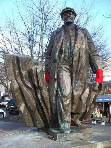 Lenin with Mittens