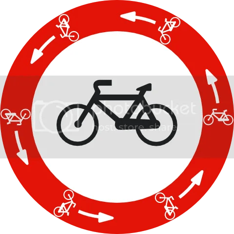 [Señal de anillo ciclista]