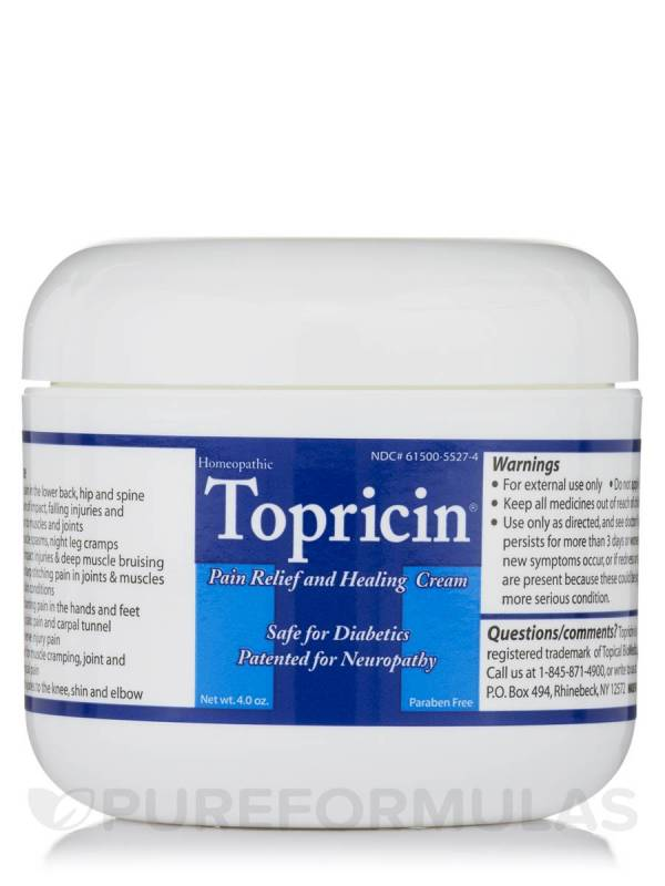 Topricin Pain Relief and Healing Cream 4 oz