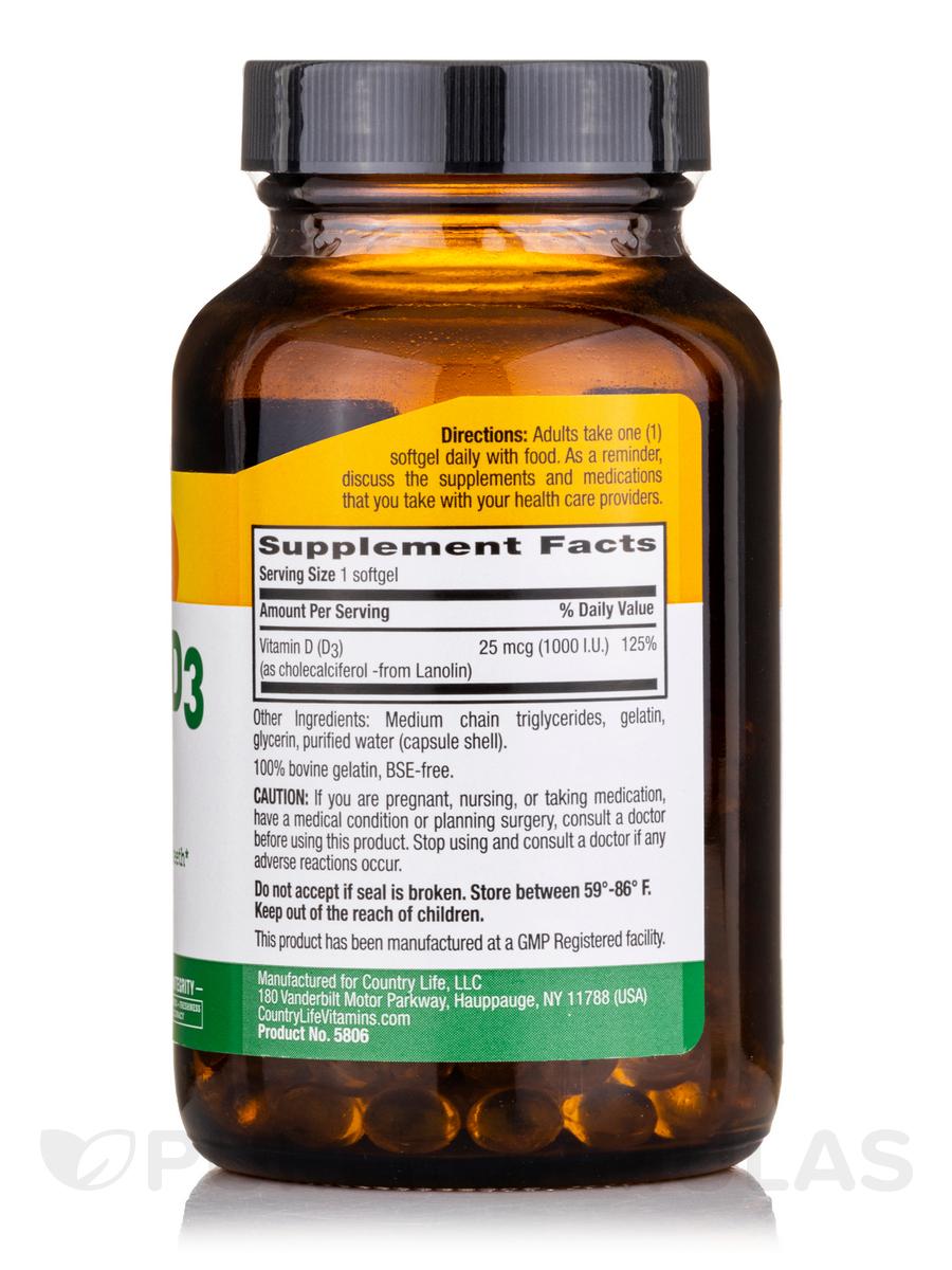 Vitamin D3 1000 IU - 200 Softgels