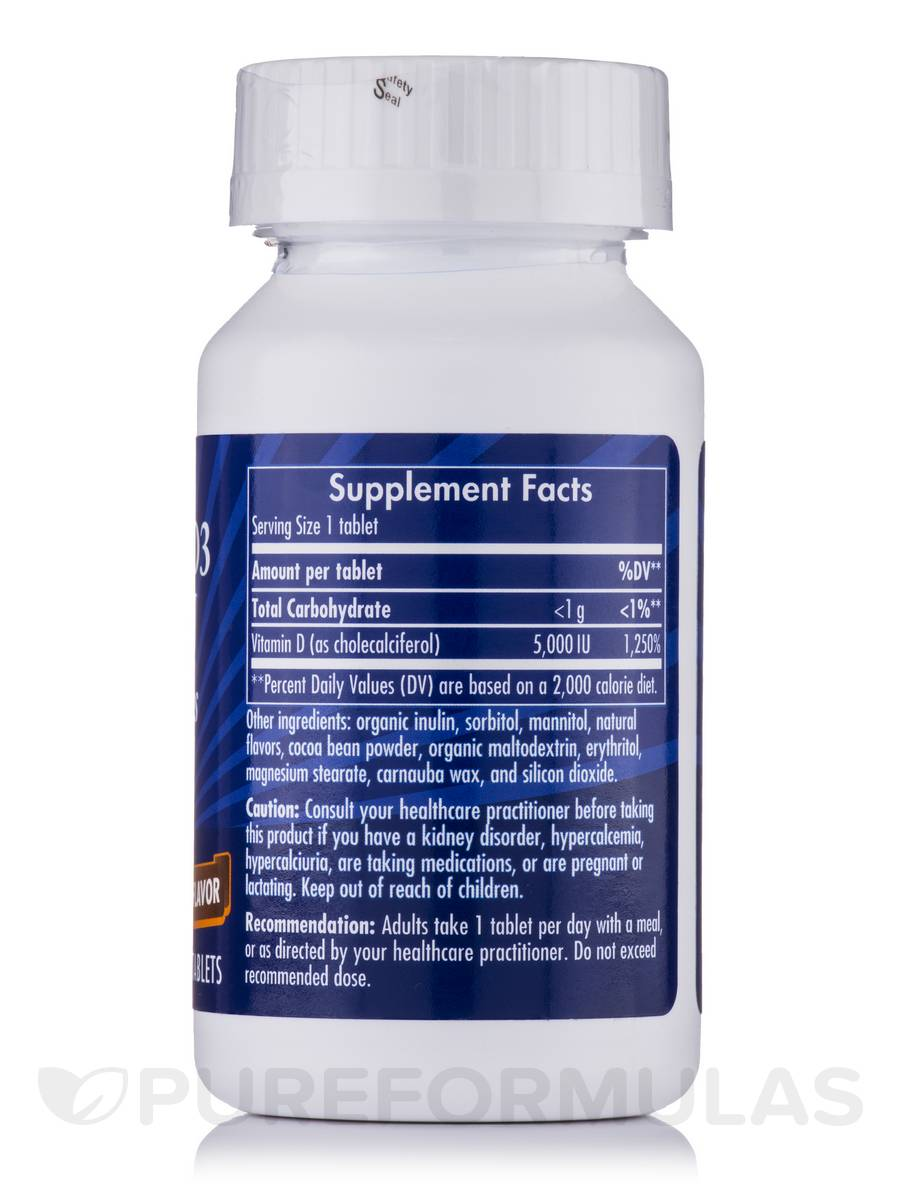 Vitamin D3 5000 IU Chewable - 90 Tablets