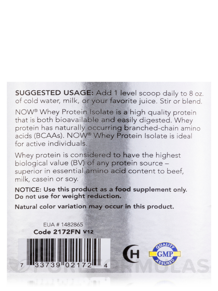 Whey Protein Isolate Nutrition Label - Label Ideas