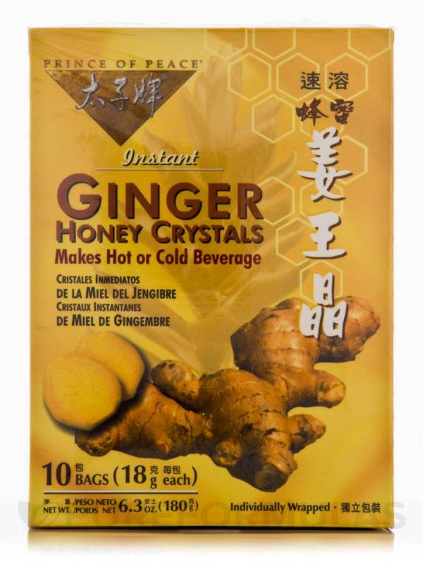 Ginger Honey Crystals - Box Of 10 Bags 18 Grams