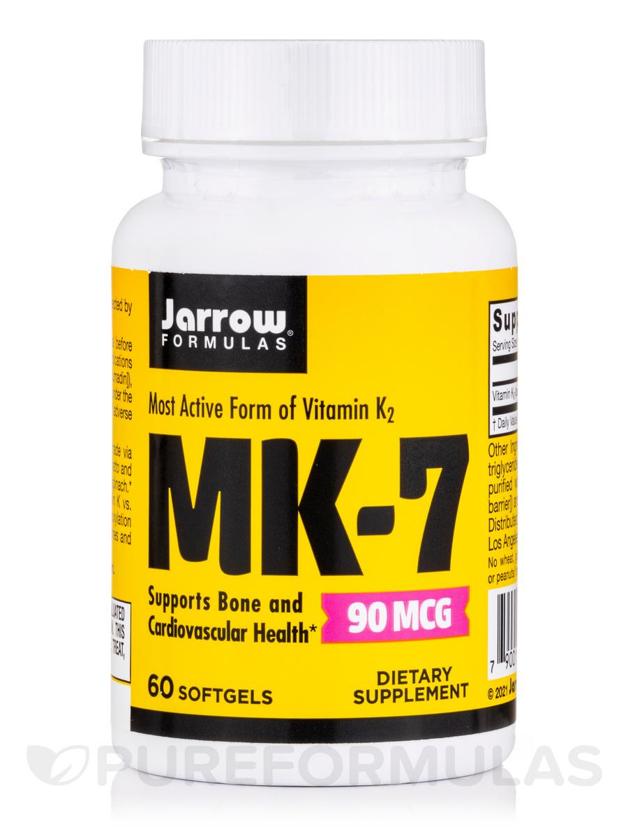 MK-7 (Vitamin K2). 90 mcg - 60 Softgels