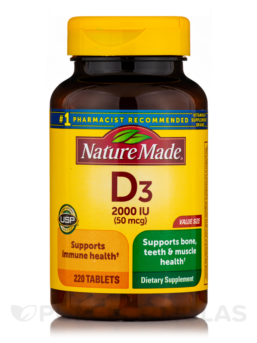 Vitamin D3 2000 IU - 220 Tablets