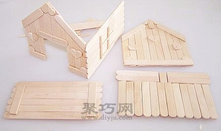 雪糕棍diy可愛的小房子 冰棍棍手工製作小木屋 - 壹讀