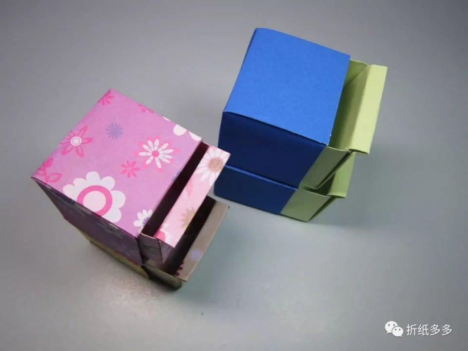 比較實用的雙層抽屜摺紙。方法很簡單。用幾個收納盒就能組裝好 - 壹讀