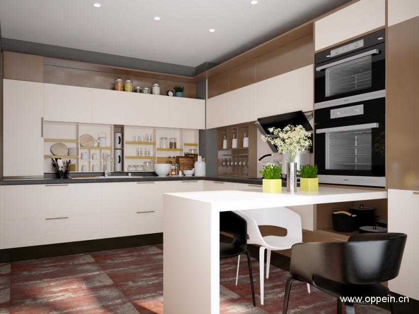 廚房電器櫃裝修效果圖 廚房家電收納 - 壹讀