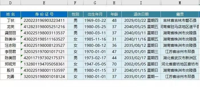 HR常用的Excel函數公式大全(附演示動圖) - 壹讀