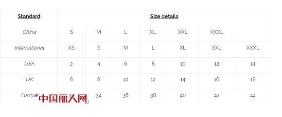 中英衣服鞋碼尺寸對照表 英國衣服尺碼對照表 - 壹讀