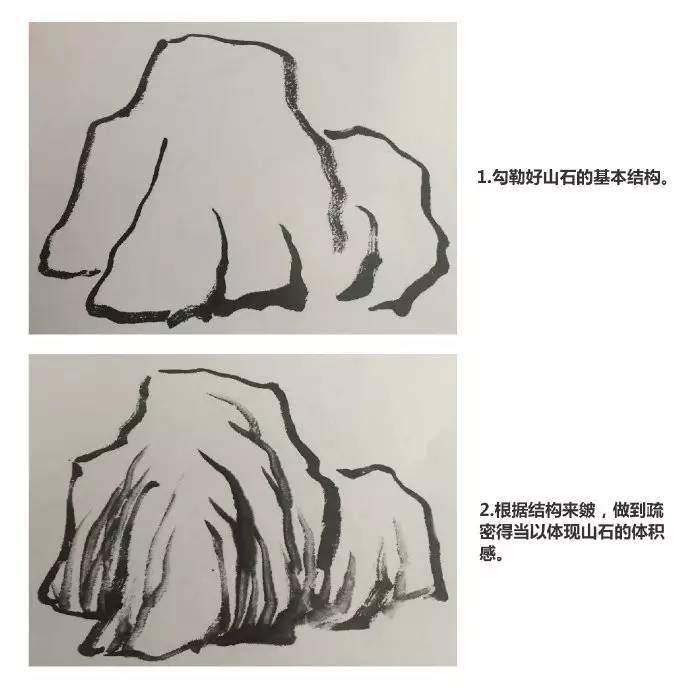 少兒國畫入門教程:短披麻皴 - 壹讀