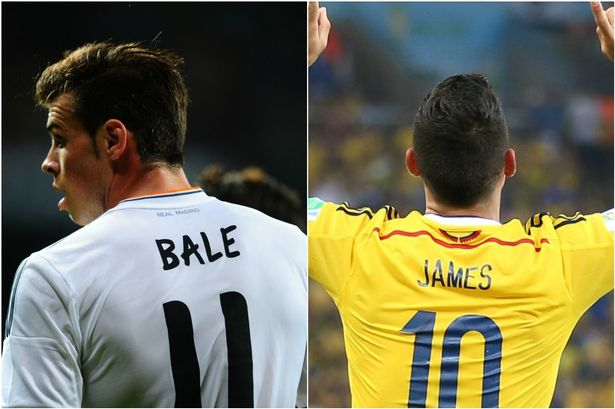 gareth bale and james rodriguez