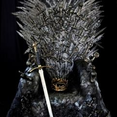Game Of Throne Chair Ice Fishing Thrones Fan Creates Her Own Replica Iron Which Is So Good It Has Been Approved By ...