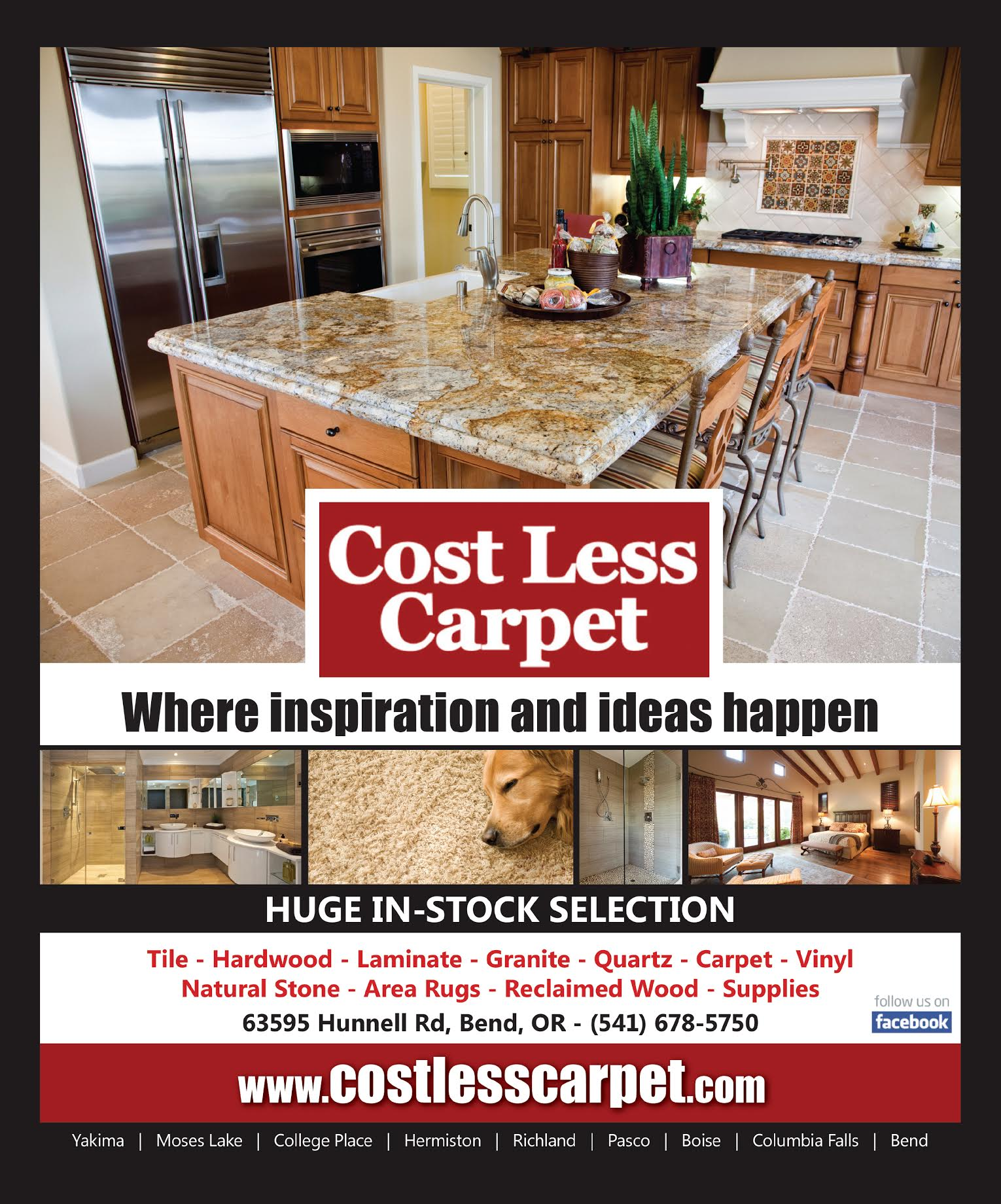 Cost Less Carpet 63595 Hunnell Rd Bend OR 97703  YPcom