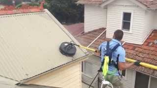 Extreme roof cleaning! Watch the lichen, moss and dirt dissapear
