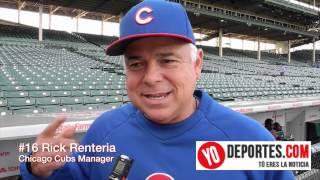 El manager de Chicago Rick Renteria en su última entrevista en el Wrigley Field