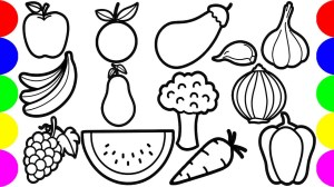 fruits drawing vegetables draw step coloring jolly toy 1zy