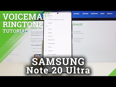 How to Change Voicemail Sounds in SAMSUNG Galaxy Note 20 Ultra – Locate Voicemail Settings