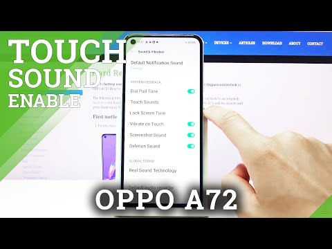 How to Enable Touch Pad Sounds in OPPO A72  - Touching Sounds Activation