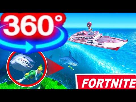 Fortnite 360 Doomsday Event || Shark in Water Storm Tornado Easter Egg