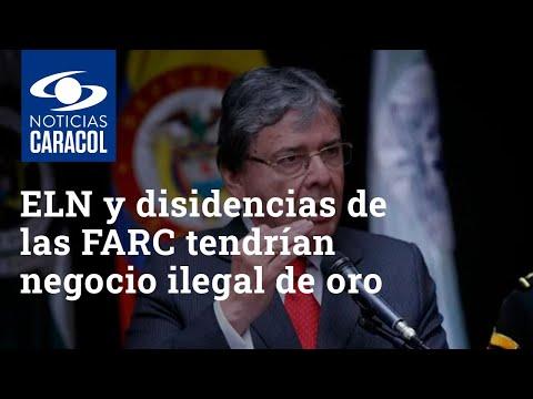 ELN y disidencias de las FARC tendrían negocio ilegal de oro en Venezuela, denuncia mindefensa